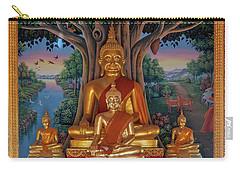 Carry-all Pouch featuring the photograph Wat Kulek Phra Wihan Buddha Images Dthlu0448 by Gerry Gantt