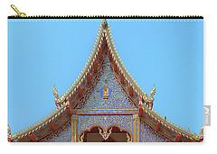 Carry-all Pouch featuring the photograph Wat Kulek Phra Wihan Gable Dthlu0443 by Gerry Gantt
