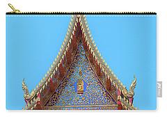 Carry-all Pouch featuring the photograph Wat Kulek Phra Wihan Gable Dthlu0444 by Gerry Gantt