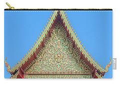 Carry-all Pouch featuring the photograph Wat Nong Khrop Phra Ubosot Gable Dthcm2663 by Gerry Gantt