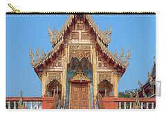 Carry-all Pouch featuring the photograph Wat Nong Tong Phra Wihan Dthcm2639 by Gerry Gantt