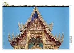 Carry-all Pouch featuring the photograph Wat Nong Tong Phra Wihan Gable Dthcm2640 by Gerry Gantt