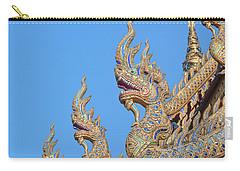 Carry-all Pouch featuring the photograph Wat Nong Tong Phra Wihan Naga Roof Finials Dthcm2648 by Gerry Gantt