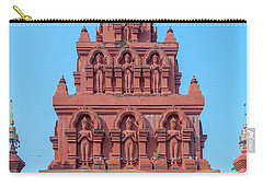 Carry-all Pouch featuring the photograph Wat Pa Chedi Liam Phra Chedi Liam Buddha Images Dthcm2673 by Gerry Gantt
