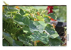 Carry-all Pouch featuring the photograph Water Beads After The Summer Rain by Tatiana Travelways