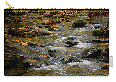 Carry-all Pouch featuring the photograph Water Navigates The Rocks by Raymond Salani III