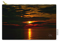 Carry-all Pouch featuring the photograph Water Sunset Clouds by Meta Gatschenberger