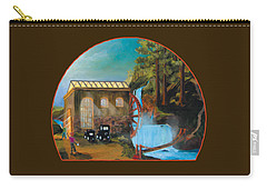 Water Wheel Overlay Carry-all Pouch