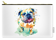 Watercolor Bulldog Carry-all Pouch