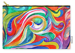 Watercolor's Swirl Carry-all Pouch