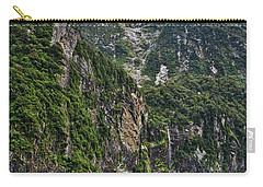 Carry-all Pouch featuring the photograph Waterfall - Milford Sound - New Zealand by Steven Ralser