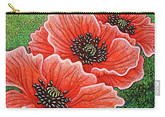 Carry-all Pouch featuring the painting Watermelon Wonderment by Amy E Fraser