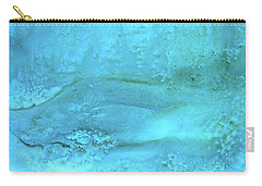 Wave Action Turquoise Carry-all Pouch