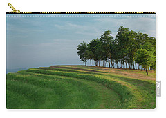 Carry-all Pouch featuring the photograph Waves Of Grass by Davor Zerjav