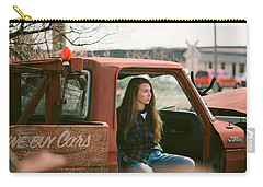 Carry-all Pouch featuring the photograph We Buys Cars by Carl Young