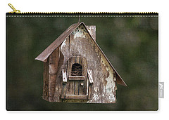 Carry-all Pouch featuring the photograph Weathered Bird House by Dale Kincaid