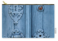 Weathered Blue Door Lock Carry-all Pouch