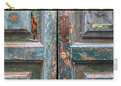 Weathered Rustic Green Door Of Cortona Carry-all Pouch