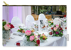 Carry-all Pouch featuring the photograph Wedding Table by Top Wallpapers