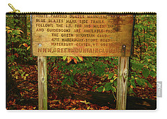 Carry-all Pouch featuring the photograph Welcome To The Long Trail And The Vermont At by Raymond Salani III