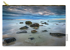 Carry-all Pouch featuring the photograph Wells Beach In Blue by Rick Berk
