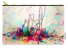Carry-all Pouch featuring the painting Whisper In My Ear by Tracy Bonin