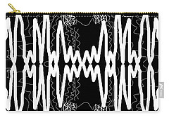 White And Black Frequency Mirror Carry-all Pouch