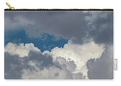 White And Gray Clouds Carry-all Pouch