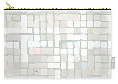 Carry-all Pouch featuring the digital art White by Attila Meszlenyi