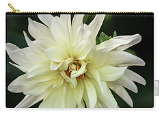 Carry-all Pouch featuring the photograph White Dahlia Beauty by Dale Kincaid