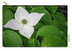 White Dogwood Flower  Carry-all Pouch