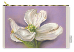 Carry-all Pouch featuring the pastel White Dogwood On Purple by MM Anderson