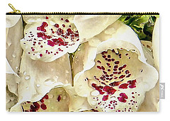 White Foxgloves With Raindrops Carry-all Pouch