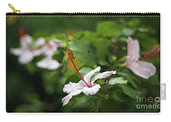 Carry-all Pouch featuring the photograph White Hibiscus Flower by Pablo Avanzini