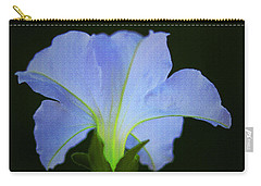 White Petunia Carry-all Pouch