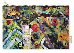 Carry-all Pouch featuring the painting Who What Where by Pam Roth O'Mara