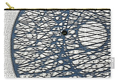 Carry-all Pouch featuring the digital art Wicker Shadows by Sarajane Helm