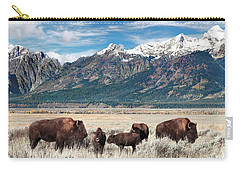 Wild Bison On The Open Range Carry-all Pouch