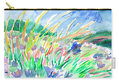 Carry-all Pouch featuring the painting Wild Herbs by Dobrotsvet Art