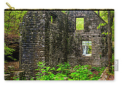 Carry-all Pouch featuring the photograph Window To The Waterfall by Andy Crawford