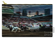 Carry-all Pouch featuring the photograph Winning Finish by Brad Allen Fine Art