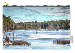 Carry-all Pouch featuring the photograph Winter At Lake Oswego by Kristia Adams