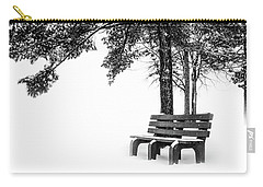 Carry-all Pouch featuring the photograph Winter Bench  by Michael Arend