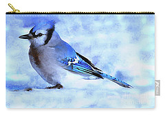 Winter Bluejay   ..digital Painting Carry-all Pouch
