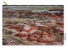 Carry-all Pouch featuring the photograph Winter Colors Of The Painted Desert by Jon Burch Photography