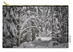 Carry-all Pouch featuring the photograph Winter In The Forest by Edmund Nagele