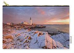 Winter Sunrise At Portland Head Light Carry-all Pouch