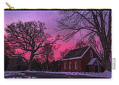 Carry-all Pouch featuring the photograph Winter Sunrise by Lori Coleman