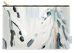 Carry-all Pouch featuring the painting Winter Trees #3 by Maria Langgle