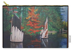 Wolf Lake On Vancouver Island  Carry-all Pouch